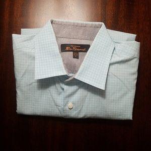 Ben Sherman Long Sleeve Button Up Dress Shirt Med
